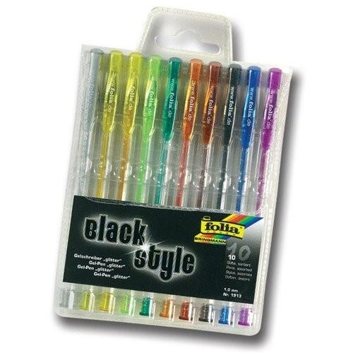 Гелевые ручки,с глиттером 10шт