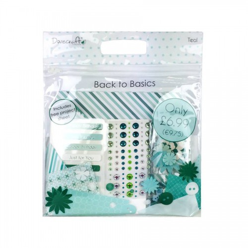 Dovecraft Back To Basics Goody Bag  Teal