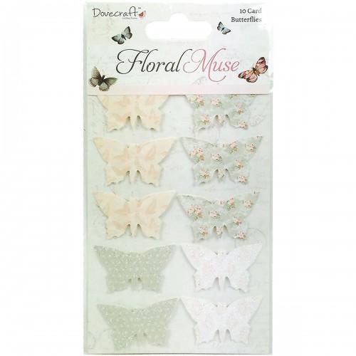Dovecraft Floral Muse 3D Butterflies