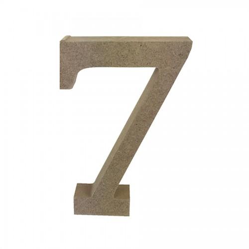 Mdf Number Blank  7