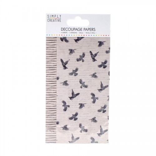 Simply Creative Decoupage Paper  Birds