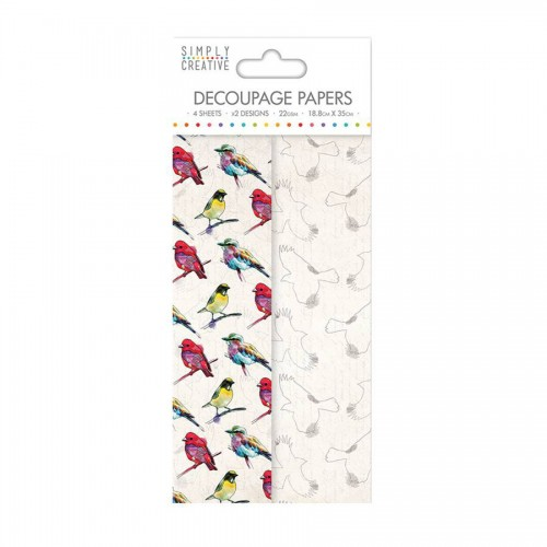 Simply Creative Decoupage Paper  Vibrant Birds