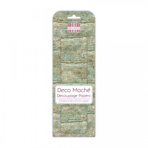 First Edition Fsc Deco Mache Weathered Wood