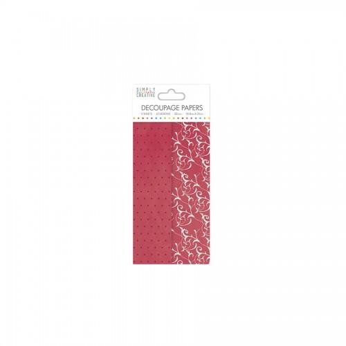 Simply Creative Decoupage Paper Romantic Polka