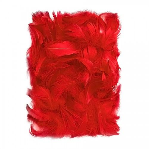 Перья 5-12 См, 10 Г  Красный