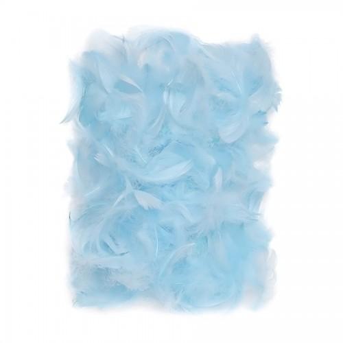 Перья 5-12 См, 10 Г  Синий