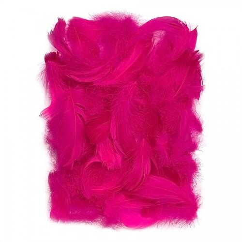 Перья 5-12 См, 10 Г  Темно Розовый