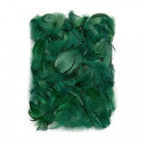 Перья 5-12 См, 10 Г  Темно Зеленый