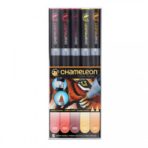 Chameleon, 5 Pen Set Warm Tones