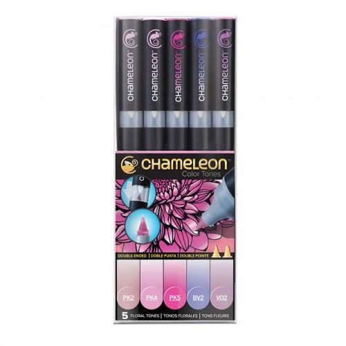 Chameleon, 5 Pen Set Floral Tones