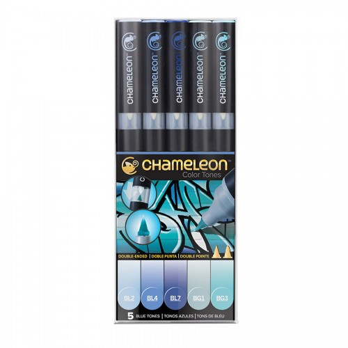 Chameleon, 5 Pen Set Blue Tones