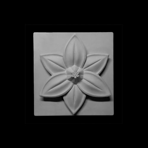Гипсовая Модель Орнамент,Шестилистник. Цветок Лото