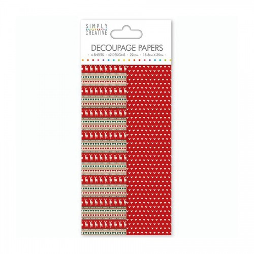 Simply Creative Decoupage Paper  Stag Stripe