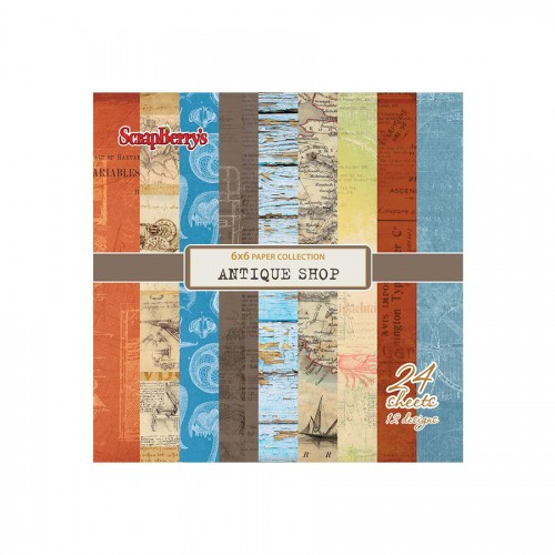"""Paper set 6""""*6""""  Antique Shop 170 gsm (24 sheets/s"""