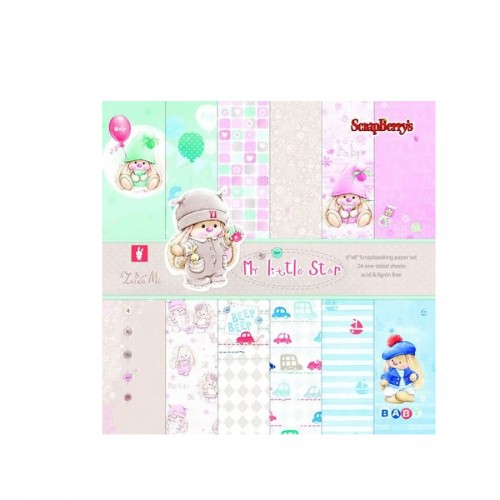 Paper Collection Set My little Star (6*6-190GSM),