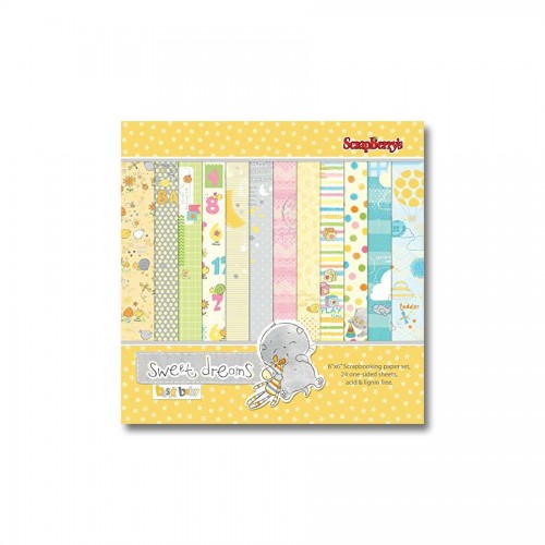 Paper Collection Set Sweet Dreams (6*6-190GSM), 24