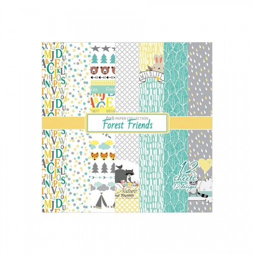Paper Collection Set Forest Friends (6*6-190GSM),