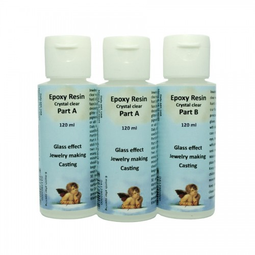 Epoxy Resin, Kit In Bottles Part A 2X120 Ml & Part