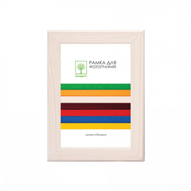 Wooden frame with glass 10х15 D18KL/1374 (milk-white)