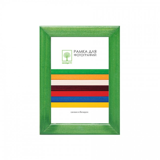 Wooden frame with glass 13х18 D8KL/3741 (green)