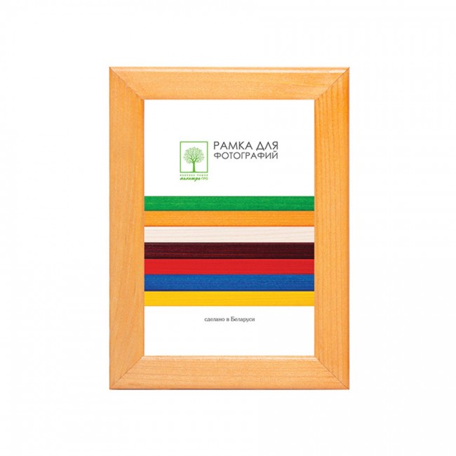 Wooden frame with glass 15х21 D18KL/1522 (maple)