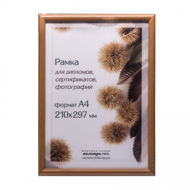 Wooden frame with glass 21х30 D14KL/1215 (beige)