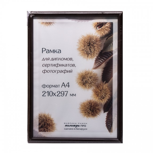 Wooden frame with glass 21х30 D14KL/1246 (brown)