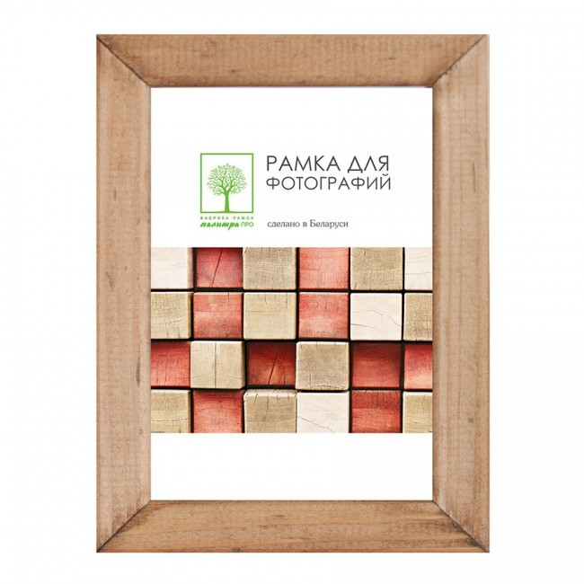 Wooden frame with glass 21х30 D18К/4265 (hazel)