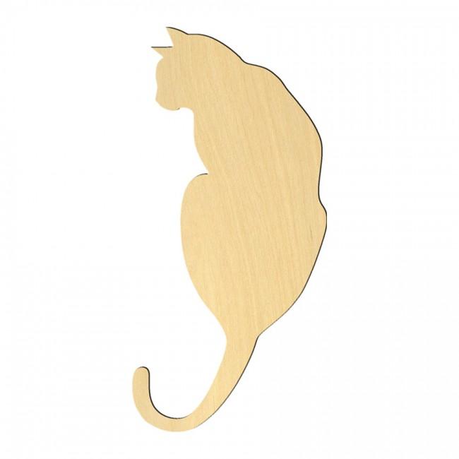 """Wooden pc. for art 005 """"Cat №3"""" 14,6х7 cm"""