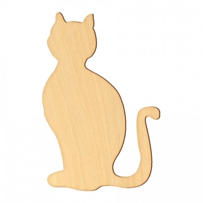 """Wooden pc. for art 008 """"Cat №1"""" 11,4х7,5 cm"""
