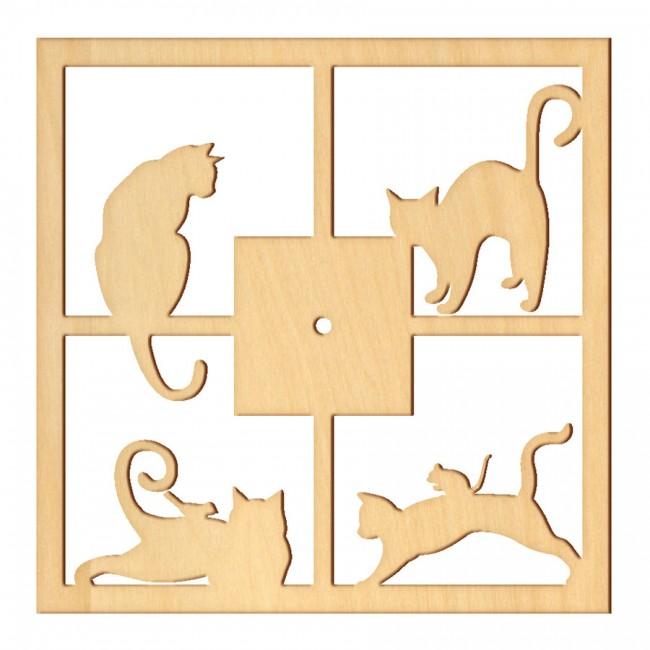 """Wooden pc. for art 024 """"Cat house"""" 26х26 cm"""
