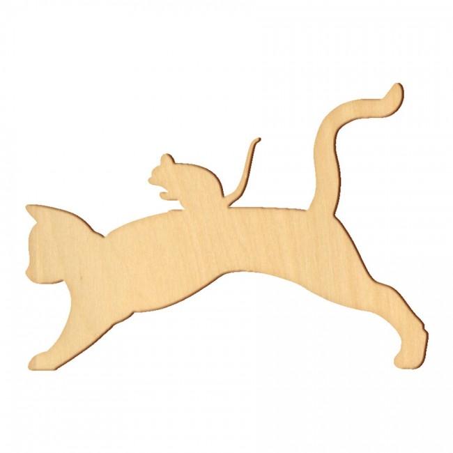 """Wooden pc. for art 029 """"Cat №5"""" 15х10,7 cm"""