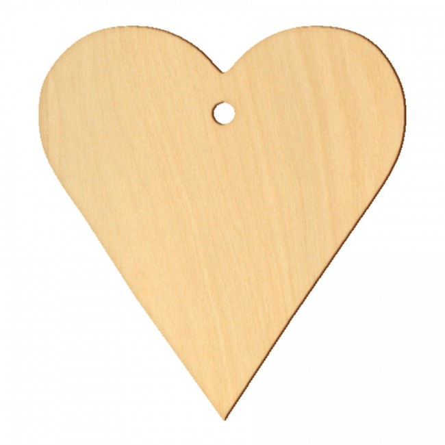 """Wooden pc. for art 045 """"Heart №2"""" 14х15 cm"""