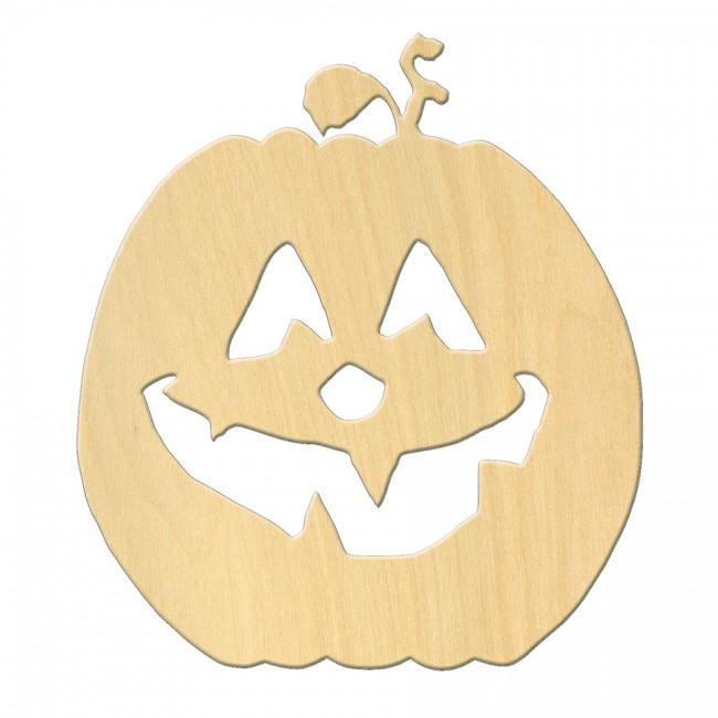 """Wooden pc. for art 066 """"Pumpkin №1"""" 15х16,9 cm"""