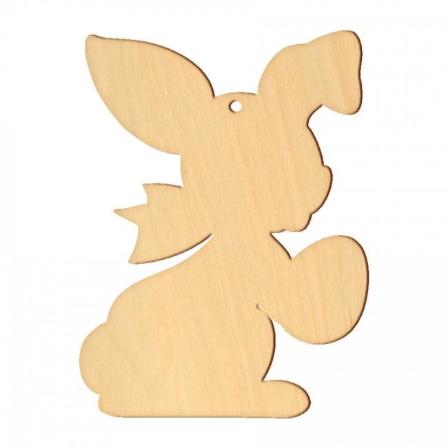 """Wooden pc. for art 104 """"Bunny №4"""" 13,4х18 cm"""