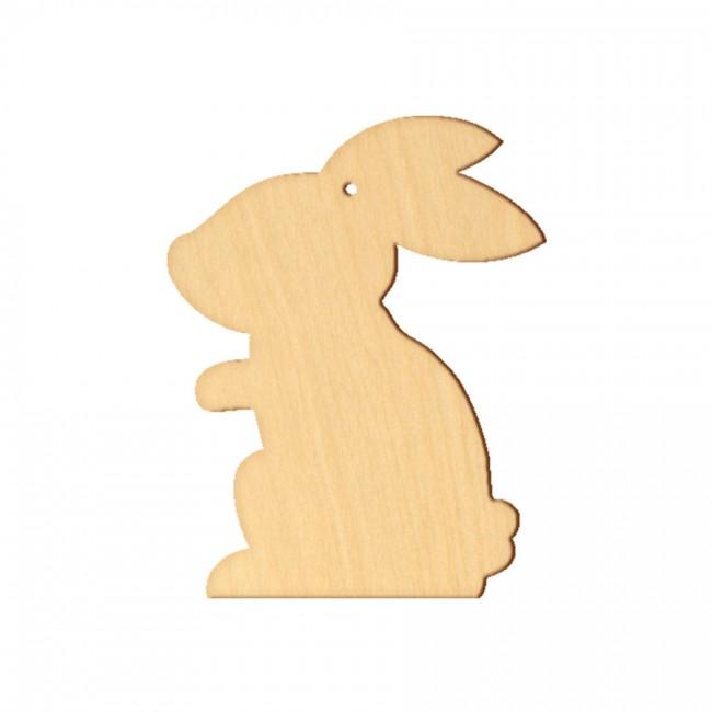 """Wooden pc. for art 105 """"Bunny №5"""" 7,8х10 cm"""