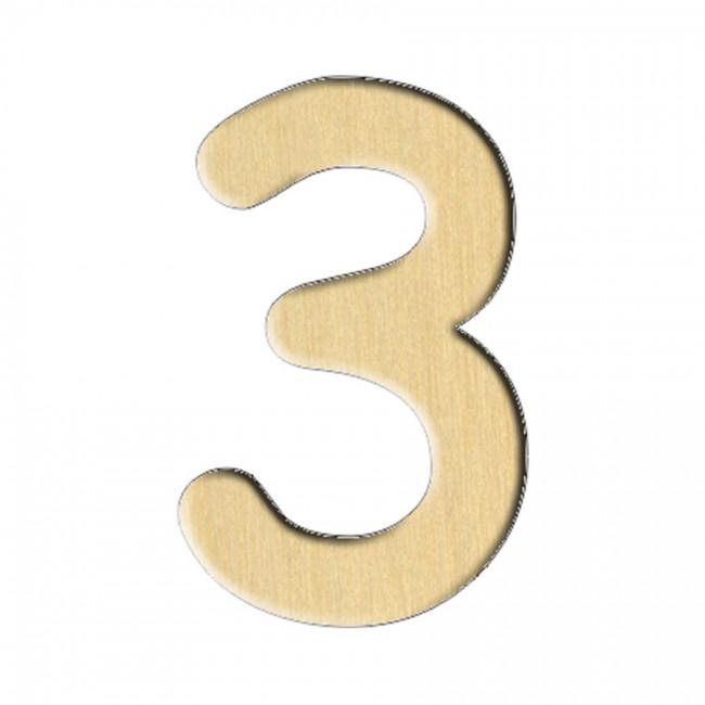 """Wooden pc. for art 113 """"Number 3"""" 1,9х3 cm"""
