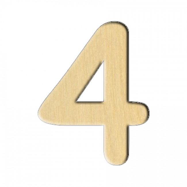 """Wooden pc. for art 114 """"Number 4"""" 2,3х3 cm"""