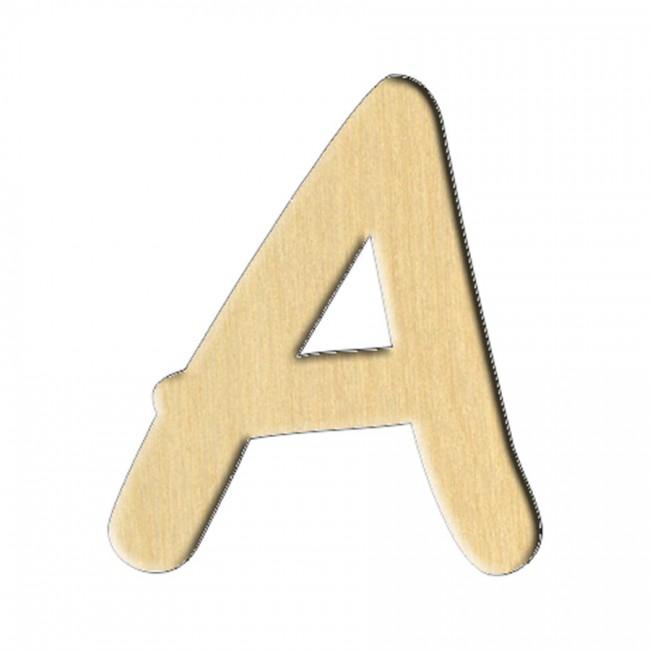 "Wooden pc. for art 154 ""Letter А (russ.)"" 6х7 cm"