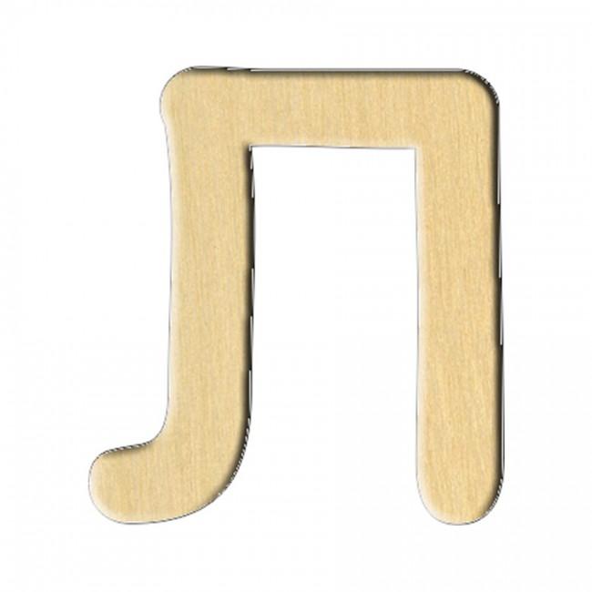 "Wooden pc. for art 166 ""Letter Л (russ.)"" 6,3х7 cm"