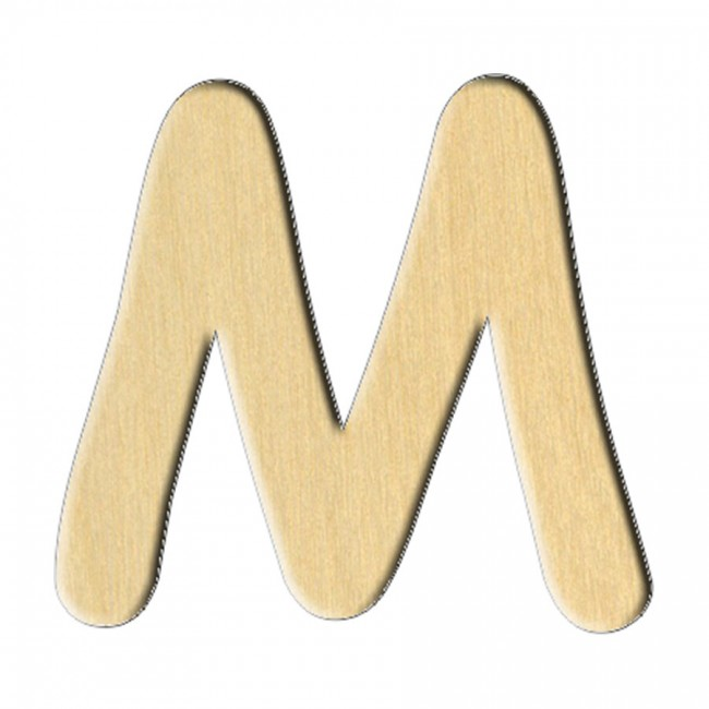 "Wooden pc. for art 167 ""Letter М (russ.)"" 7,5х7 cm"