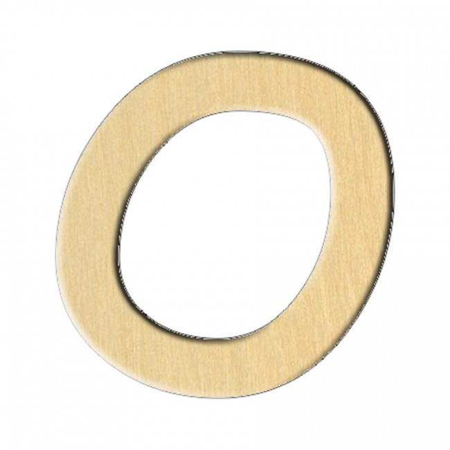 "Wooden pc. for art 169 ""Letter О (russ.)"" 6,7х7 cm"