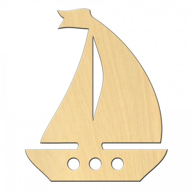 """Wooden pc. for art 446 """"Ship"""" 7,8*9,5 cm"""