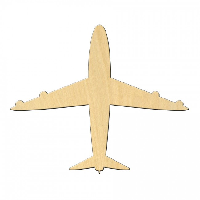 """Wooden pc. for art 456 """"Airplane"""" 12*10 cm"""