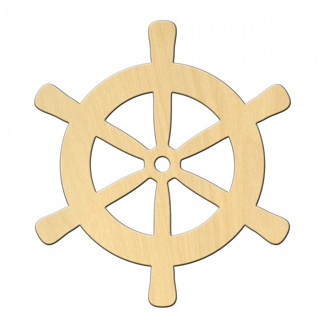 """Wooden pc. for art 459 """"Ship's wheel"""" 10*11,2 cm"""