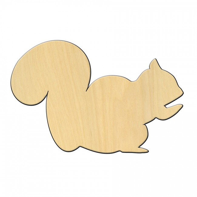 "Wooden pc. for art 461 ""Squirrel"" 14*9,5 cm"