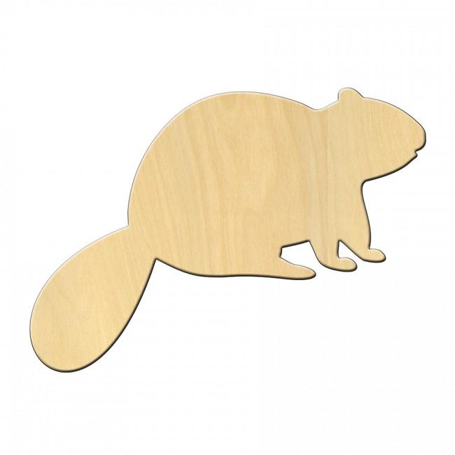 """Wooden pc. for art 462 """"Beaver"""" 15*11 cm"""
