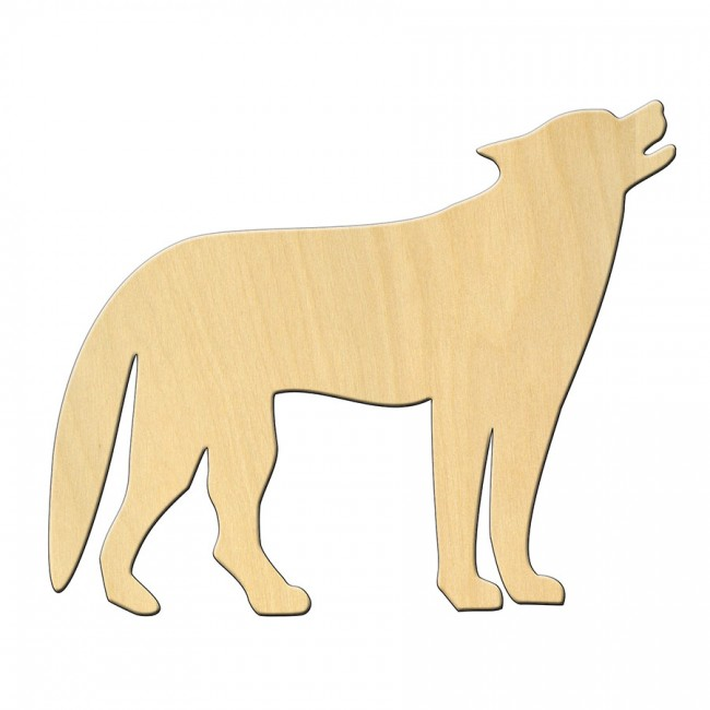 """Wooden pc. for art 464 """"Wolf"""" 12*10 cm"""