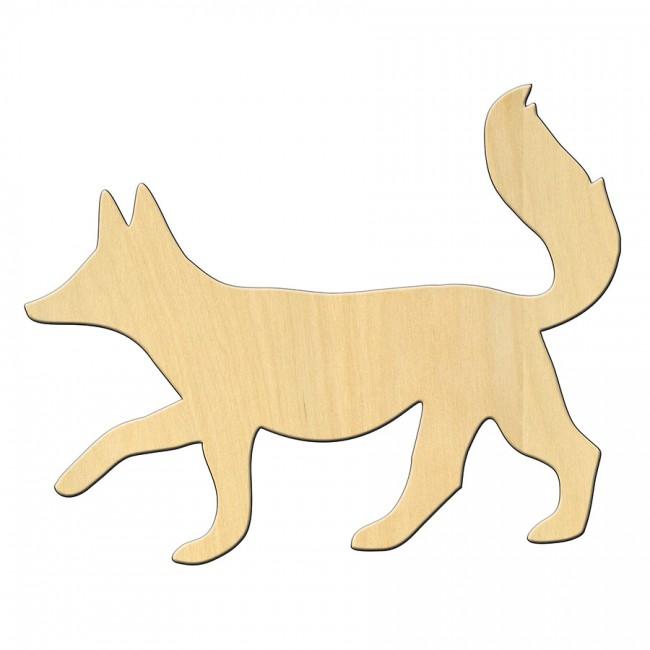 """Wooden pc. for art 470 """"Fox"""" 13,6*11 cm"""