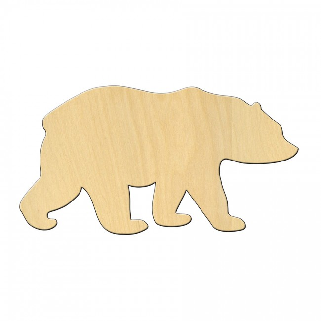 """Wooden pc. for art 472 """"Bear"""" 15*8 cm"""